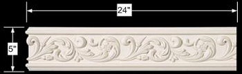 spec-<PRE>Cornice White Urethane Sample of 11596 24&quot; Long </PRE>