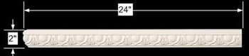 "spec-<PRE>Cornice White Urethane 24"" Sample of 11611 </PRE>"
