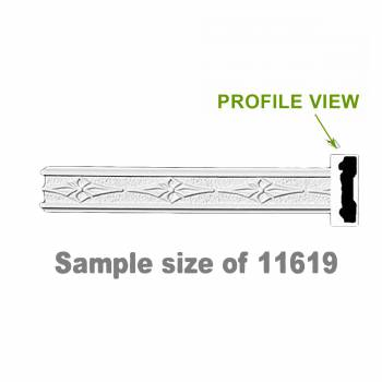 <PRE>Cornice White Urethane 24&quot; Sample of 11619 </PRE>