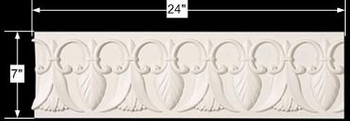 "spec-<PRE>Cornice White Urethane Sample of 11627 24"" Long </PRE>"