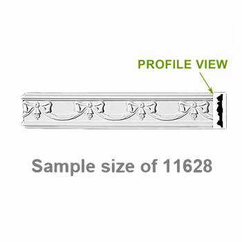 <PRE>Cornice White Urethane 23.5&quot; Sample of 11628 </PRE>