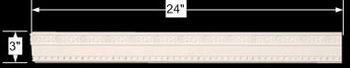 spec-<PRE>Cornice White Urethane 24&quot; Sample of 11634 </PRE>