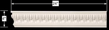 spec-<PRE>Cornice White Urethane Sample of 11635 24&quot; Long </PRE>
