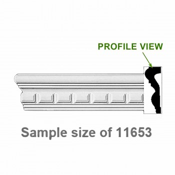 <PRE>Cornice White Urethane 24inch Sample of 11653 </PRE>zoom1