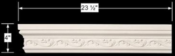 spec-<PRE>Cornice White Urethane Sample of 11662 23.5&quot; Long </PRE>