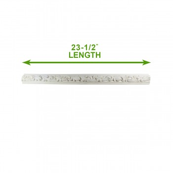 spec-<PRE>Cornice White Urethane 23.5&quot; Sample of 11675 </PRE>