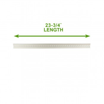 spec-<PRE>Cornice White Urethane 23.75&quot; Sample of 11702 </PRE>