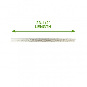 spec-<PRE>Cornice White Urethane 23.5&quot; Sample of 11713 </PRE>
