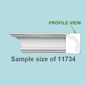 <PRE>Cornice White Urethane 24inch Sample of 11734 </PRE>zoom2