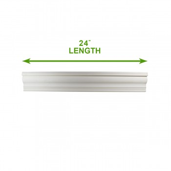 spec-<PRE>Cornice White Urethane 24&quot; Sample of 11736 </PRE>