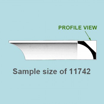 "spec-<PRE>Cornice White Urethane 24"" Sample of 11742 </PRE>"