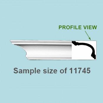 <PRE>Cornice White Urethane Sample of 11745 23.5inch Long </PRE>zoom2