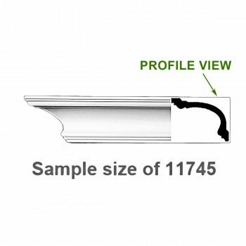 Cornice White Urethane Sample of 11745 23.5