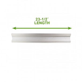 "spec-<PRE>Cornice White Urethane Sample of 11751 23.5"" Long </PRE>"