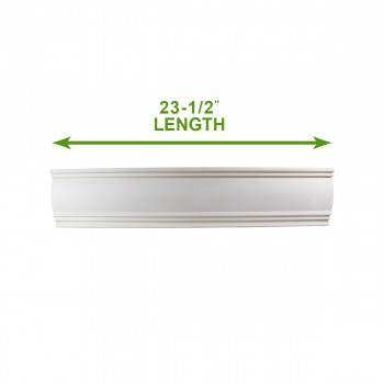 "spec-<PRE>Cornice White Urethane Sample of 11753 23.5"" Long </PRE>"