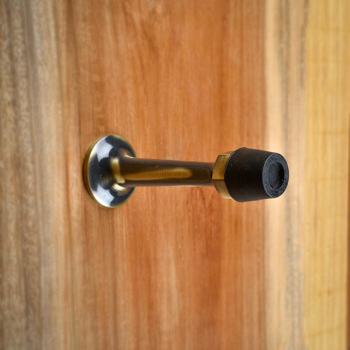 Door Stop Antique Brass Wall Mount Bumper 3 12 Proj Decorative Door Stops Wall Mounted Door Bumper Antique Brass Door Stop