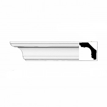 Cornice White Urethane Sample of 11754 23.5 Long Cornice Cornice Moulding Cornice Molding