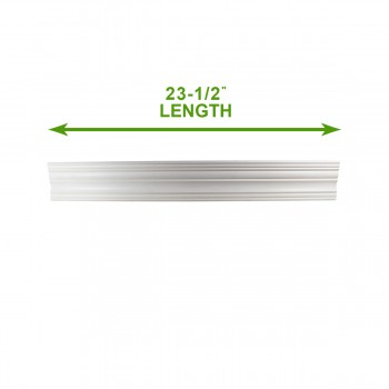 "spec-<PRE>Cornice White Urethane 23.5"" Sample of 11755 </PRE>"
