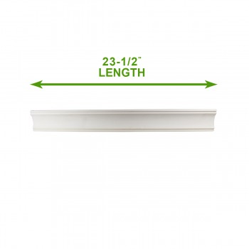 "spec-<PRE>Cornice White Urethane Sample of 11759 23.5"" Long </PRE>"