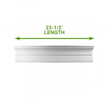 "spec-<PRE>Cornice White Urethane Sample of 11766 23.5"" Long </PRE>"