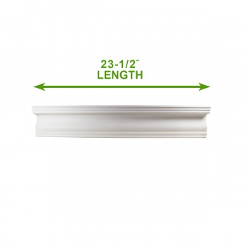 "spec-<PRE>Cornice White Urethane Sample of 11768 23.5"" Long </PRE>"