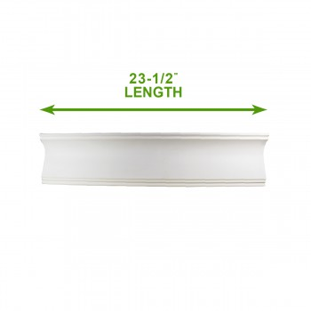 "spec-<PRE>Cornice White Urethane Sample of 11769 23.5"" Long </PRE>"