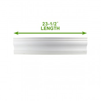 "spec-<PRE>Cornice White Urethane Sample of 11772 23.5"" Long </PRE>"