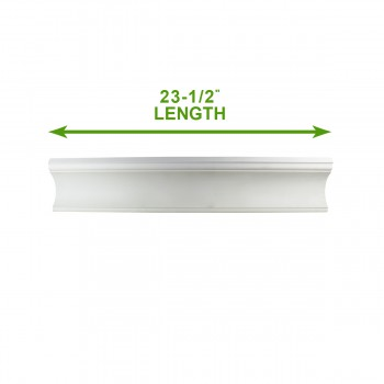"spec-<PRE>Cornice White Urethane 23.5"" Sample of 11773 </PRE>"