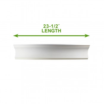 "spec-<PRE>Cornice White Urethane 23.5"" Sample of 11775 </PRE>"