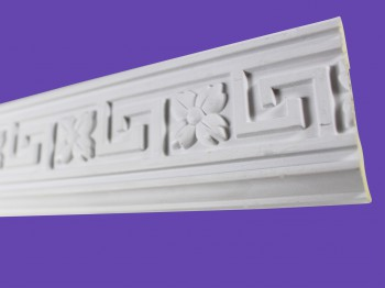 Cornice White Urethane Sample of 18857 19.5 Long Crown Molding Crown Moldings Crown Moulding