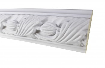 <PRE>Cornice White Urethane Sample of 18861 19.5inch Long </PRE>zoom3