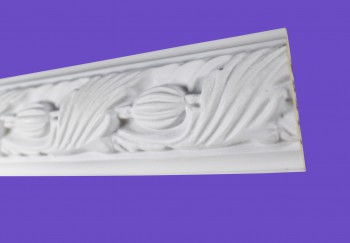 <PRE>Cornice White Urethane Sample of 18861 19.5inch Long </PRE>zoom4