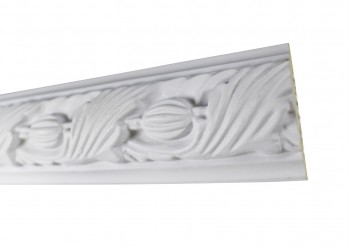 <PRE>Cornice White Urethane Sample of 18861 19.5inch Long </PRE>zoom5