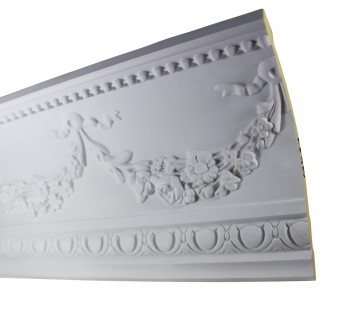 <PRE>Cornice White Urethane Sample of 18865 18.75&quot; Long </PRE>