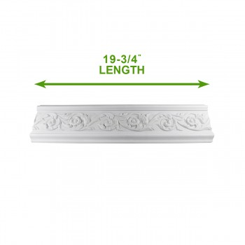 "spec-<PRE>Cornice White Urethane Sample of 18872 19.75"" Long </PRE>"