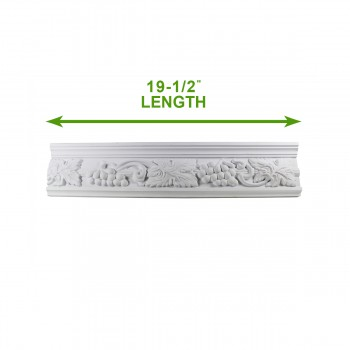 "spec-<PRE>Cornice White Urethane 19.5"" Sample of 20406 </PRE>"