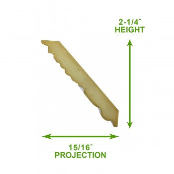 spec-<PRE>Cornice White Urethane Sample of 20418 19.75&quot; Long </PRE>