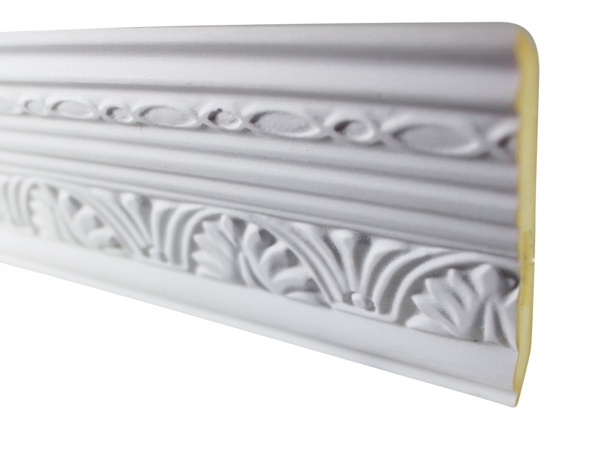 Cornice White Urethane Sample of 20419 19.75 Long Cornice Cornice Moulding Cornice Molding