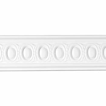 Cornice White Urethane Sample of 20805 12721grid