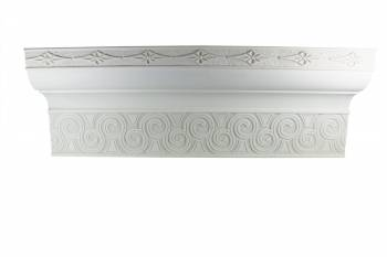 Cornice White Urethane Sample of 11172 12724grid