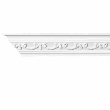 Cornice White Urethane Sample of 11193 12727grid