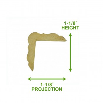 spec-<PRE>Cornice White Urethane Sample of 11544 </PRE>