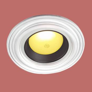 Ceiling Medallions - Recessed Lighting Trim Simple Design 6 1/2 in. ID x 10 1/8 in. OD by the Renovator's Supply
