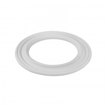 White Urethane Spot Light Trim Recessed Durable Foam 6 1/2 inches ID12750grid