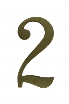 Cast Solid Brass 8 Address House Number 2