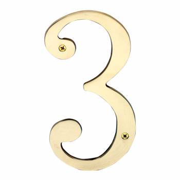 Cast Solid Brass 8 Address House Number 3