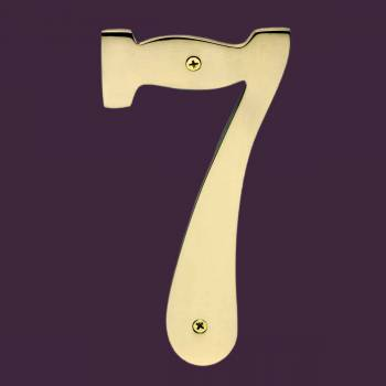 <PRE>Cast Solid Brass 8&quot; Address House Number '7' </PRE>