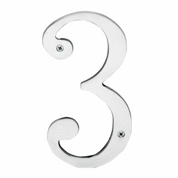 Cast Solid Brass 8 Address House Number 3 Chrome