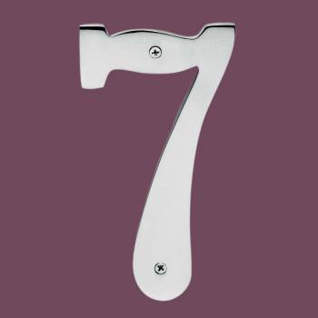 <PRE>Cast Solid Brass 8inch Address House Number '7' Chrome </PRE>zoom2