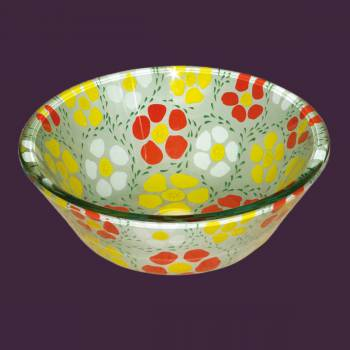 Sunflower Glass Vessel Sink - Barrel - Glass sinks, Glass sink info & unique Glass accessories, quantity discounts on Glass sinks, Glass pedestal sinks, Glass wall mount sinks, Glass console sinks, counter top Glass sinks, Glass counter top sinks, Glass pedestal sinks, bathroom fixtures, Glass bathroom sinks, sink faucets & free shipping by Renovator's Supply.